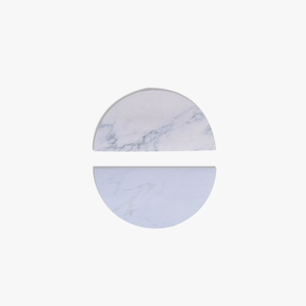 Blue marble circle sticky notes