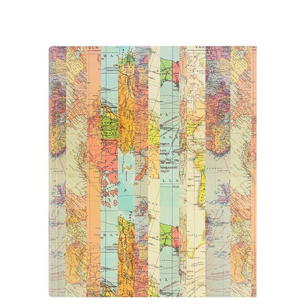 Medium Striped Map Self-adhesive Photo Album