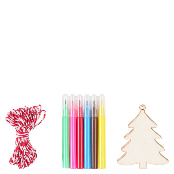 Decorate your own Wooden Tree Decoration