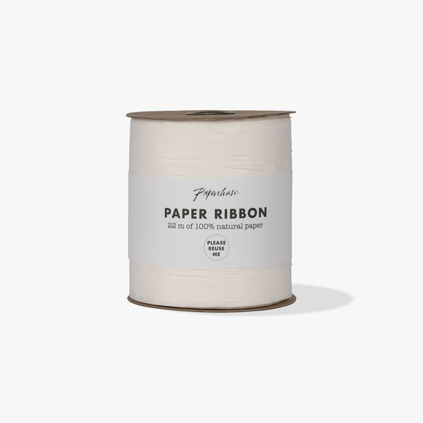 Extra wide white paper ribbon - 22m