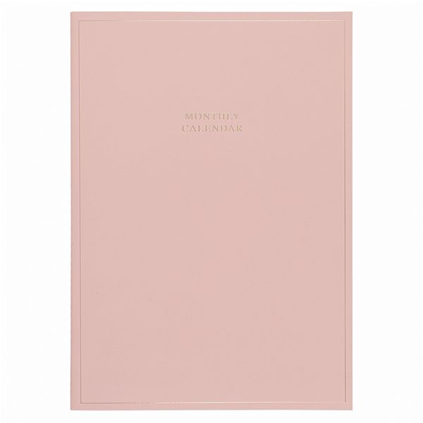 A4 pink monthly calendar booklet