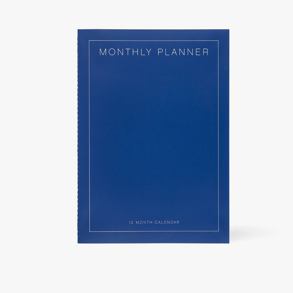 A4 blue monthly planner