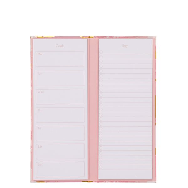 Pink marble meal planner