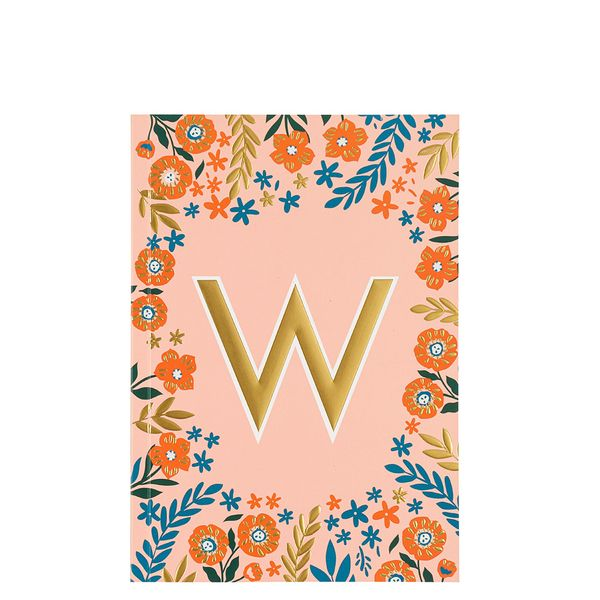Letter W Notebook
