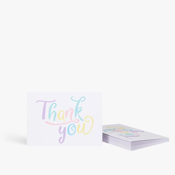 Pastel letterpress thank you note cards - pack of 10