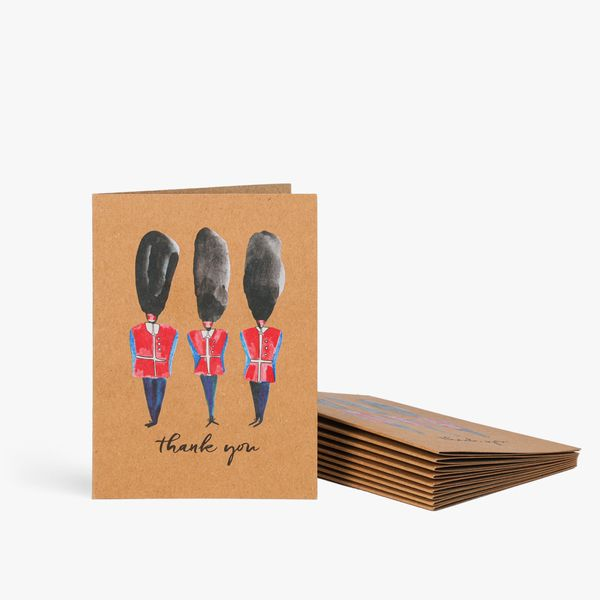 Queens guard thank you notecards - pack of 10