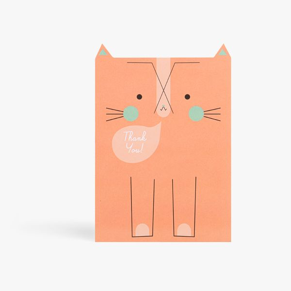 Tabby cat thank you notecards - pack of 10