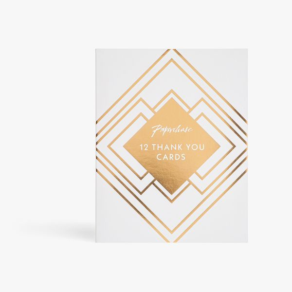 Marble deco thank you notecards - pack of 12