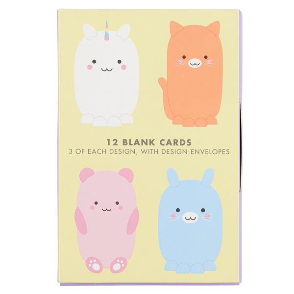Cute character notecards - pack of 12