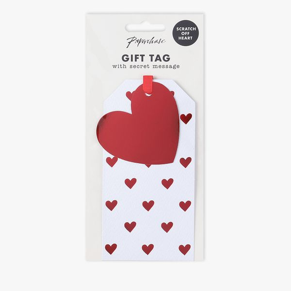 Heart scratch off gift tag - 1 pack
