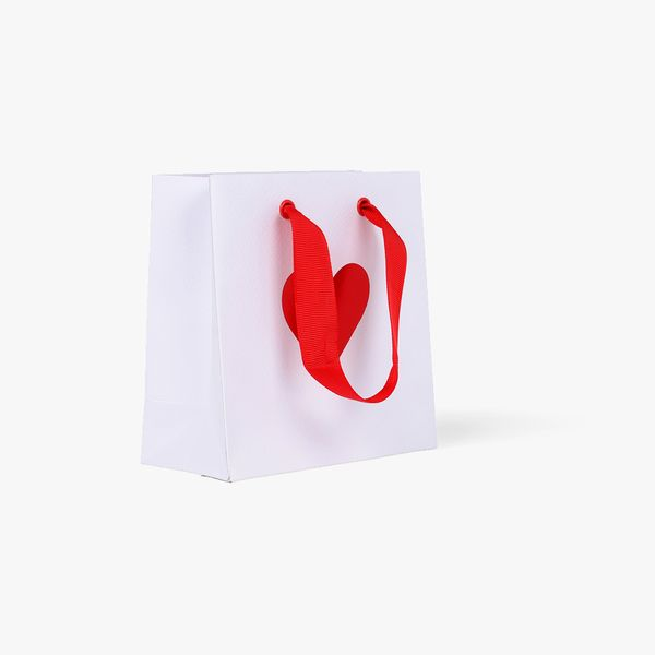Ombre hearts small gift bag