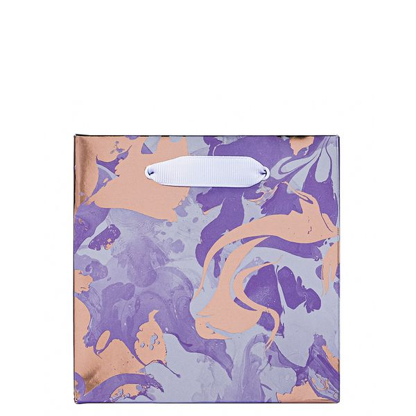 Lavender marble small gift bag
