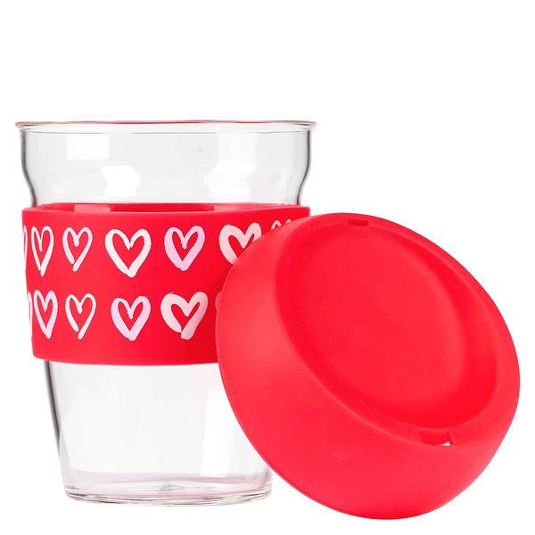 Ditsy heart take out cup