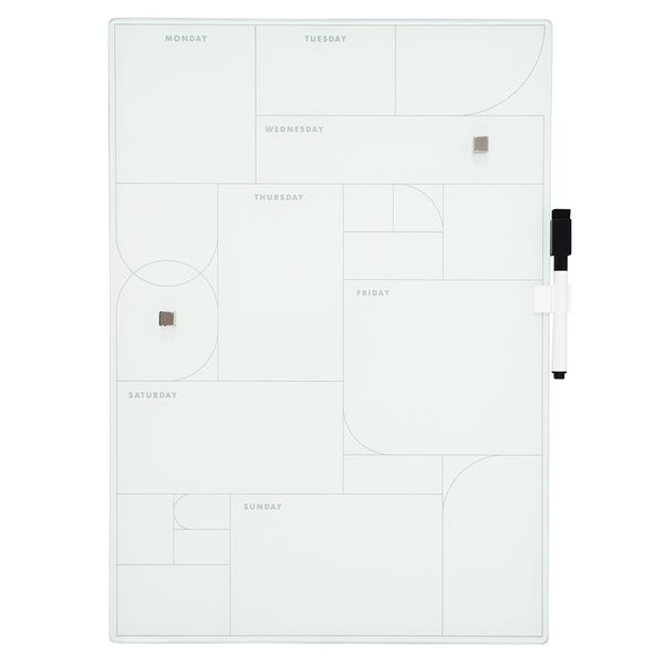 A3 glass magnet weekly planner board