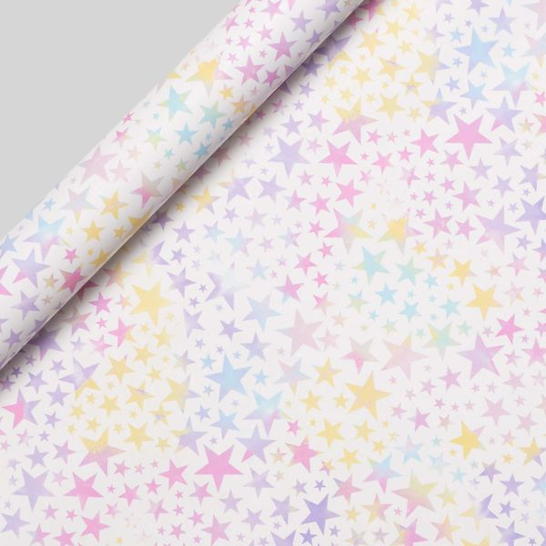 Pastel Stars Wrapping Paper - 5m