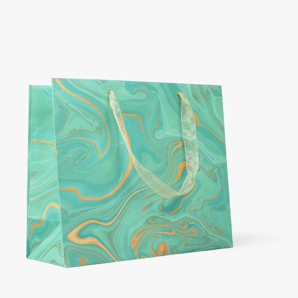 Green marble large gift bag