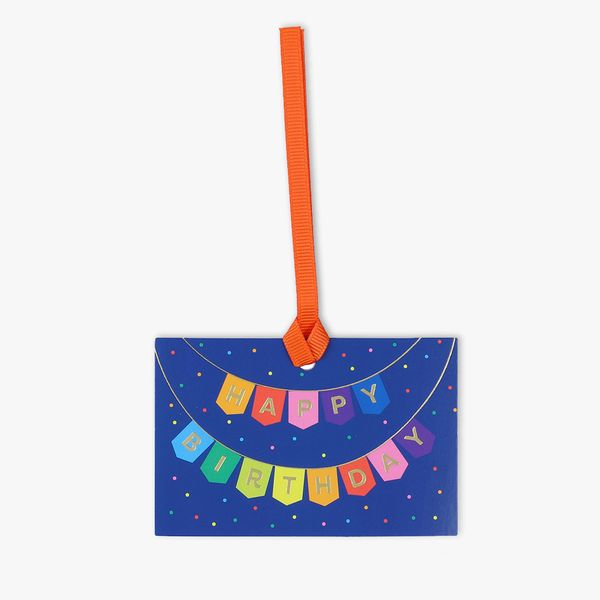 Birthday bunting gift tags - 5 pack