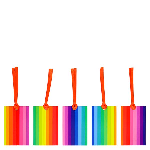 Rainbow Stripe Gift Tags - Pack of 5
