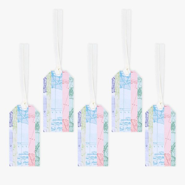 Maps luggage gift tags - 5 pack