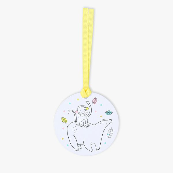 New baby circle gift tags - 5 pack