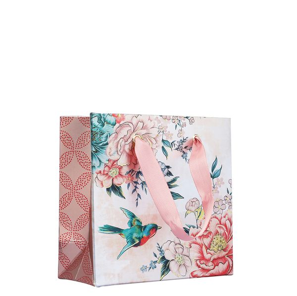 Swallows floral small gift bag