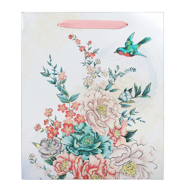 Swallows floral large gift bag