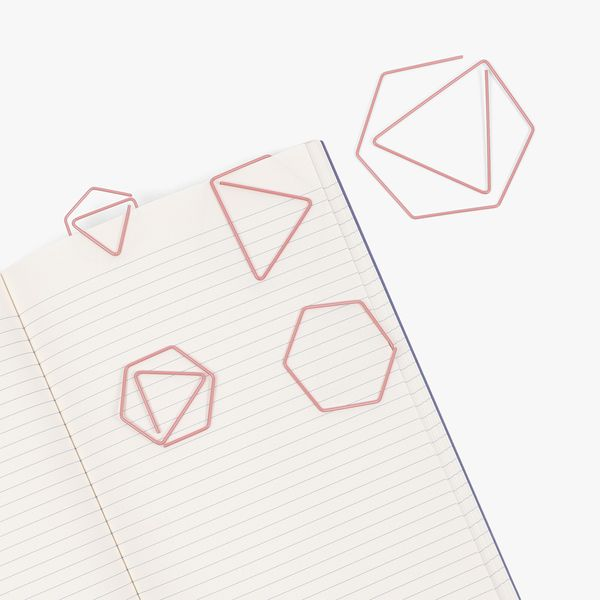 Geo Layered Paper Clips - Pack of 5
