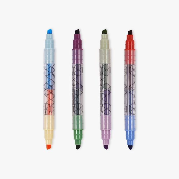 Dual-ended Highlighters - Pack of 4