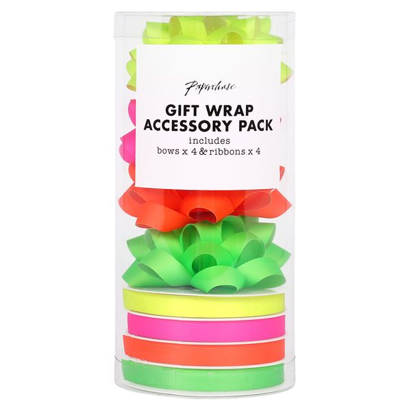 Neon Gift Wrap Accessory Pack