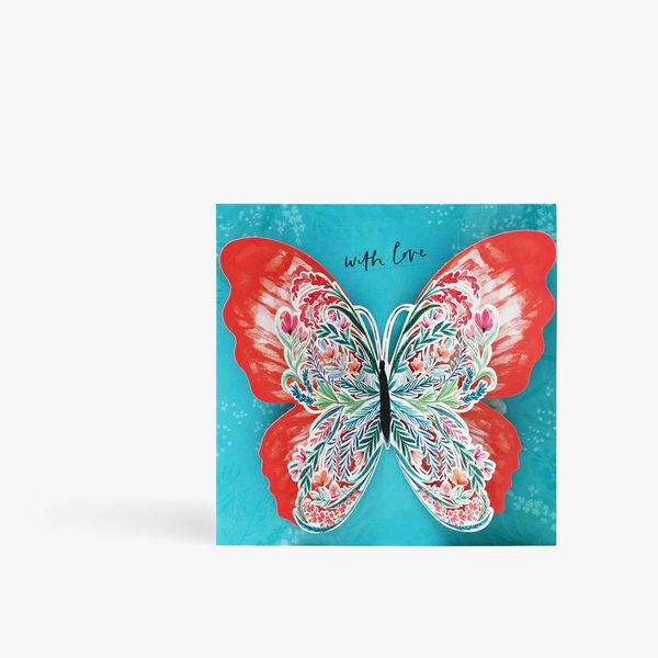 Butterfly cut out birthday card