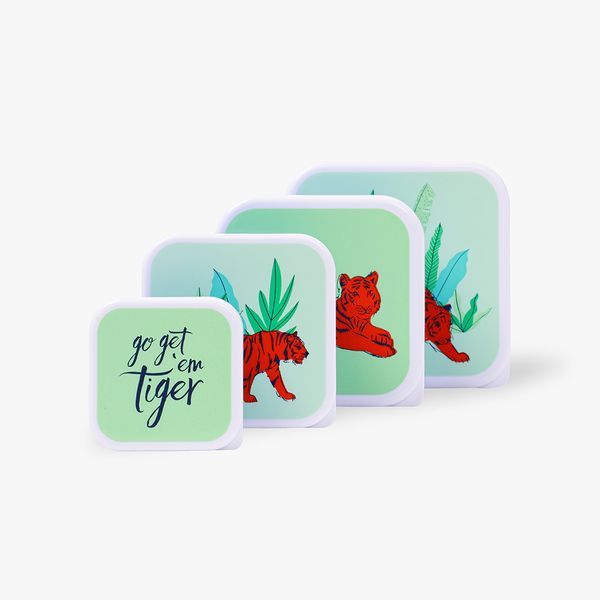 Tiger Snack Boxes - Set of 4