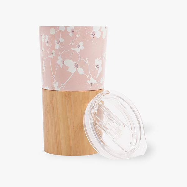 Ditsy Floral Bamboo Metal Cup