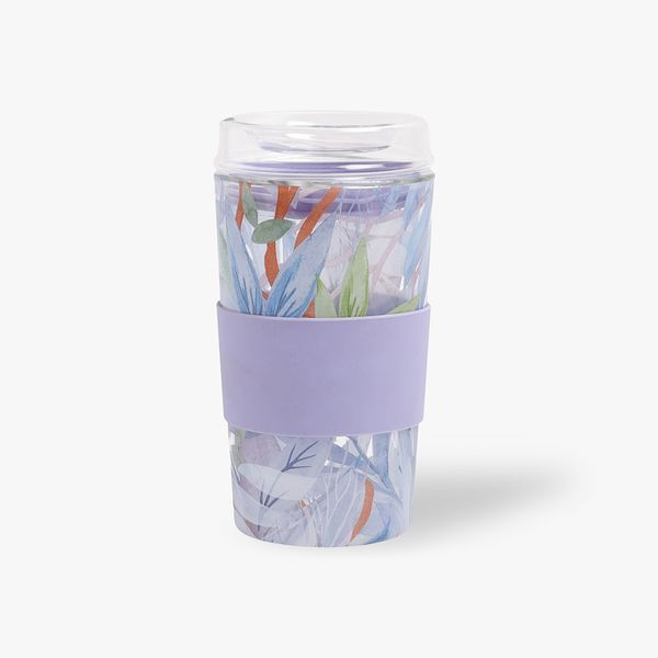 Reusable Glass Leaf Cup