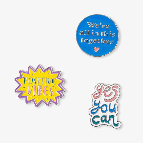 Positive Quote Pin Badges - Set of 3