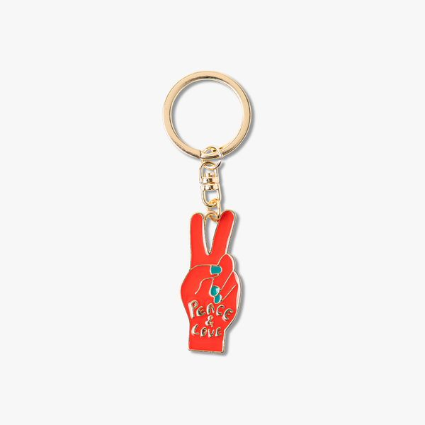 Peace and Love Keyring