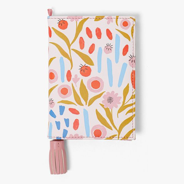Pink Floral Passport Cover