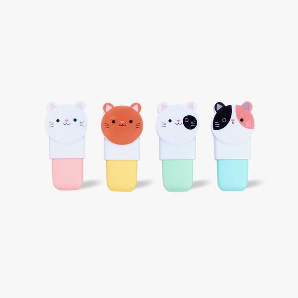 Cat Shaped Highlighters - Pack of 4