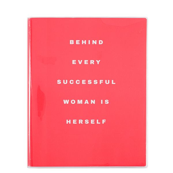 Behind every successful woman is herself notebook