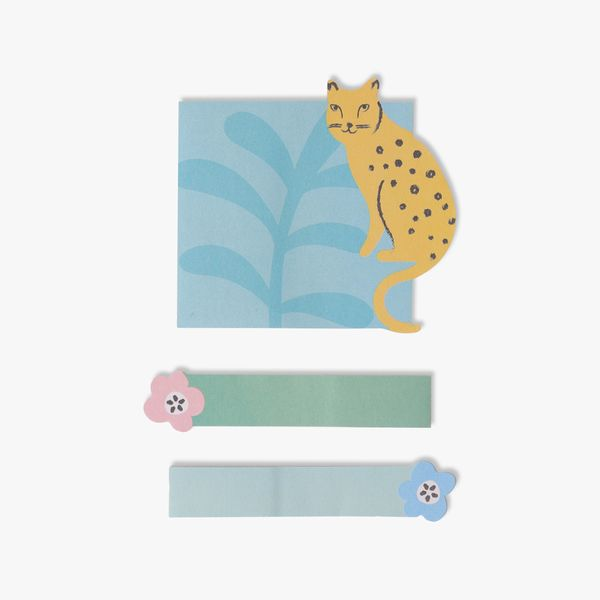 Leopard sticky note and tab set