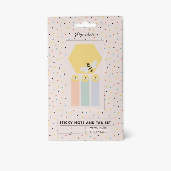 Honeycomb sticky note and tab set