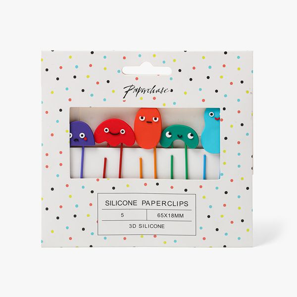 Squiggle Face Paper Clips - Pack of 5