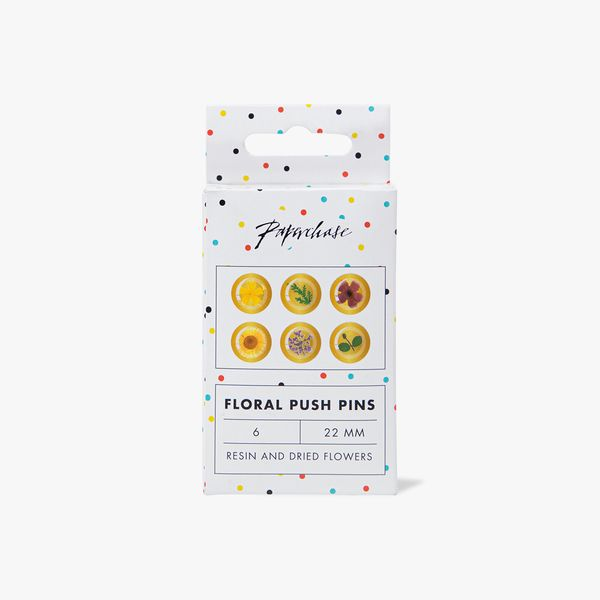 Floral Push Pins - Pack of 6