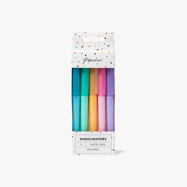 Pastel Erasable Highlighters - Pack of 5