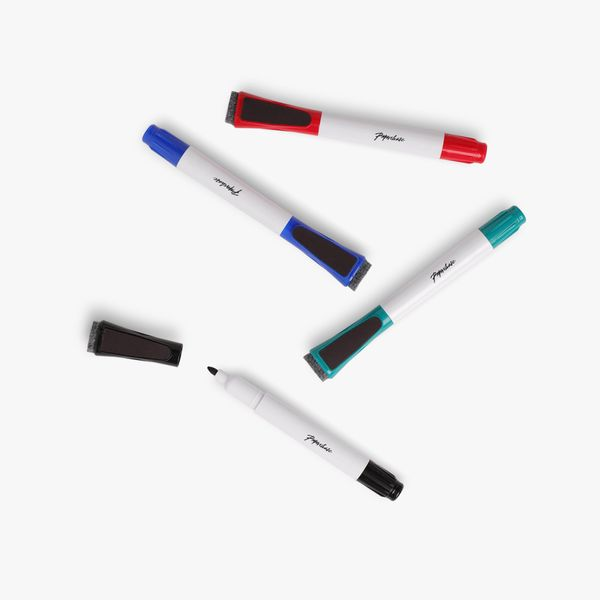 Whiteboard markers with erasers - pack of 4
