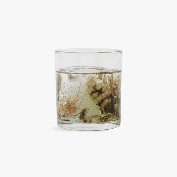 Entrapped Floral Candle
