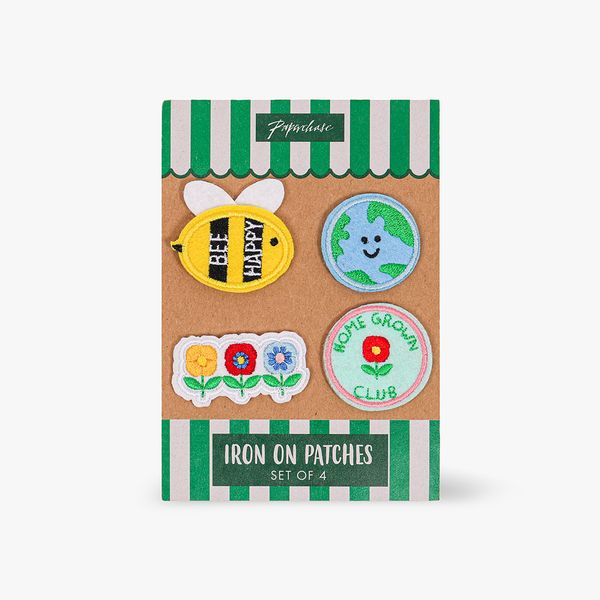 Bee Happy Iron On Patches