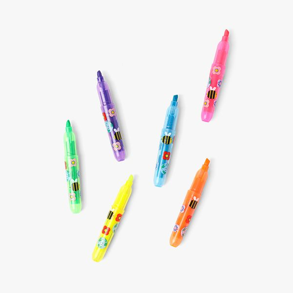 Bee Happy Highlighters - Pack of 6