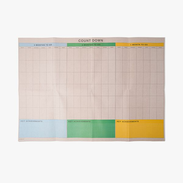 A1 Count Down Wall Chart