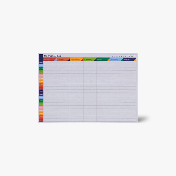 A5 Weekly Timetable Desk Pad
