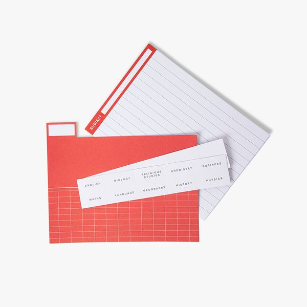 Boxed Revision Cards With Tabs